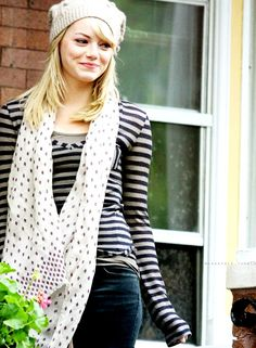 Emma Stone - She's adorable, goofy, and unafraid to just be herself. Let's be best friends! Lol.