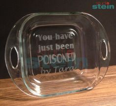 You Have Just Been Poisoned By Personalized Glass by koralstein......too crazy!