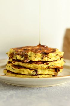 Chocolate Chip Banana Oatmeal Pancakes
