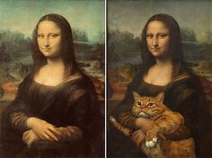 Famous Artworks Improved By Cats