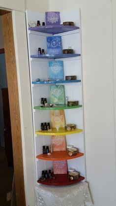 Chakra shelf- this is sooo cool. I need the chakra poster too.