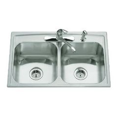 KOHLER K-3346-3-NA Toccata Double Equal Self-Rimming Kitchen Sink (Tools  Home Improvement)  gift.skincaree.co...  B000MIV69E sinks