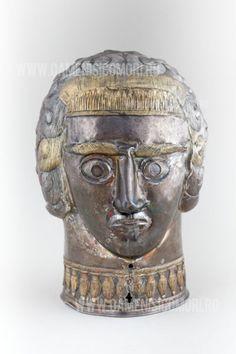 Silver head, Peretu, Romania, 4th century BC