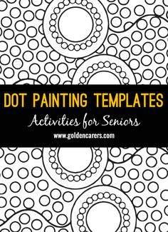 # World Indigenous Day - August 9 # Indigenous Australian Dot Paintings: Indigenous Australians use plant shoots, Echidna quills and small twigs to paint their Dreamtime stories. Here are 12 Dot Painting Templates to enjoy with the elderly. Aboriginal Art Dot Painting, Aboriginal Art Symbols, Aboriginal Art For Kids, Aboriginal Dreamtime, Aboriginal Education, Dot Painting Tools, Dot Art Painting, Mandala Painting, Zen Painting