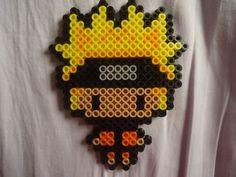 Naruto Uzumaki perler beads by TsukiHimeChii