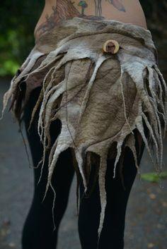 RESERVED For J J - Not For Sale - Felt Melted Woodland Nymph Wildling Fairy Pixie Pointed Pocket Belt OOAK