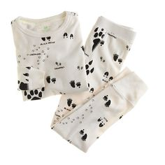 Boys' animal tracks sleep set