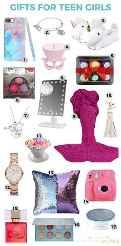 Looking for cool gift ideas for teen girls? This gift guide has you covered. Tee… Looking for cool gift ideas for teen girls? This gift guide has you covered. Teens can be hard to shop for but not with these clever and on trend ideas! Presents For Teenage Girls, Birthday Presents For Teens, Teen Presents, Cool Gifts For Teens, Christmas Gifts For Teen Girls, Tween Girl Gifts, Diy For Teens, Present For Teens, Best Teen Gifts