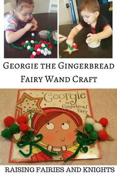 Georgie the Gingerbread Fairy Wand Craft - Come check out Georgie the Gingerbread Fairy a great Christmas book with an accompanying Wand Craft to go with it. Perfect for toddlers & kids of all ages. Easy Hobbies, Hobbies And Crafts, Preschool Crafts, Crafts For Kids, Family Crafts, Preschool Ideas, Yule Crafts, Diy Crafts, Christmas Books