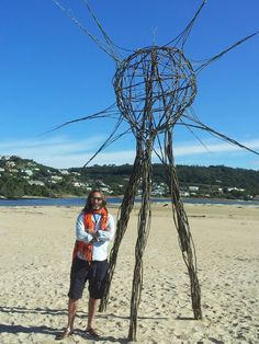 """FACEBOOK 16 Aug Chris Reinders (photo).  'The Earth Pods' by Kim Goodwin and Lara Kirsten at Lookout Beach in Plettenberg Bay. """"I wonder at the simple and elegant symmetry and patterning of molecules, universal structures and everything in between."""" Site_Specific #LandArtBiennale. #LandArt. #Plett"""