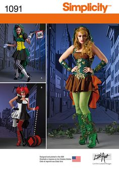 Simplicity Creative Group - Misses' Super Villainess Costumes