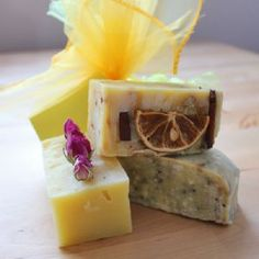 Handmade Organic Soaps...so fragrant and makes your skin oh so lovely..my favorites are lemony and anything citrus