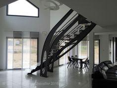 Création jean-luc Chevallier pour La Stylique Art Nouveau, Escalier Design, Modernisme, Design Graphique, Design Art, Stairs, Architecture, Home Decor, Staircases