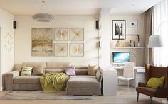 Гостиная большой диван