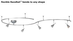 flexible RaceRail bends to any shape