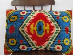 Ikat Velvet Pillow  Kilim Design PillowVelvet Silk by asiapillow, $55.00