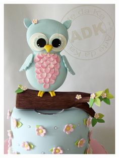 Top cake Blue Owl - image only