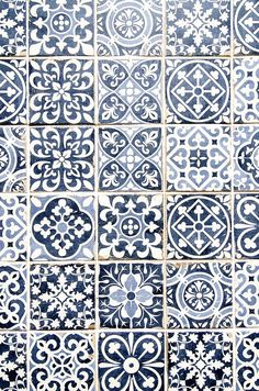 Artwork For Home Decoration Tile Patterns, Textures Patterns, Delft, Decorative Accessories, Decorative Boxes, Mexican Kitchen Decor, Modelos 3d, Blue Tiles, Dark Interiors