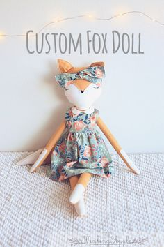 Custom fox doll: Fox Doll, Handmade Doll, Fox Plush, Soft Fox Plush Toy
