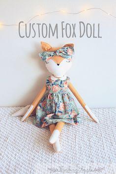 Custom fox doll: Fox Doll, Handmade Doll, Fox Plush, Soft Fox Plush Toy