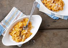 Slow Cooker Butternut Squash Macaroni. It's a healthier version of traditional mac and cheese and it makes just enough for two or three servings.