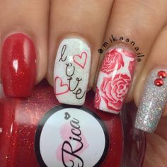 valentine by mikasnails #nail #nails #nailart