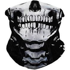 iHeartRaves Skeleton Seamless Rave Mask All Over Print Bandana ($6.95) ❤ liked on Polyvore featuring accessories