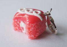 Strawberry Cupcake Charm.  Miniature Food Jewelry, Polymer Clay Food Charm. $7.00, via Etsy.