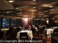 Lung King Heen - Hong Kong - Interior at night - 3 Michelin Stars.