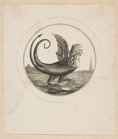 Caricature Showing Marie Antoinette as a Dragon Anonymous, French, 18th century  Date:     18th century Medium:     Etching