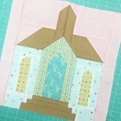"""happy Friday y'all! Here's another sneak peek from my upcoming VINTAGE CHRISTMAS BOOK.the block is called """"Little White Chapel"""" and is super fun to make! Christmas Blocks, Cozy Christmas, Vintage Christmas, Quilt Block Patterns, Pattern Blocks, Quilt Blocks, Church Banners Designs, Little White Chapel, House Quilts"""