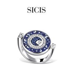 Ring in Micro Mosaic, Gold and Diamonds. The head of the ring can rotate, so by flipping it you can change from the stars to the moon. #sicis #sicisjewels #jewelry #jewelrygram #jewelrydesign #jewelrydesign #jewelrymaking #jewelryoftheday #jewels #luxury #luxurylifestyle #jewelrymaking #micromosaic #diamonds #diamondjewelry #ring