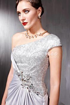 Gaine une épaule robe de soirée perlée [RDS1302040145] - €187.58 : Robe de Soirée Pas Cher,Robe de Cocktail Pas Cher,Robe de Mariage,Robe de Soirée Cocktail.