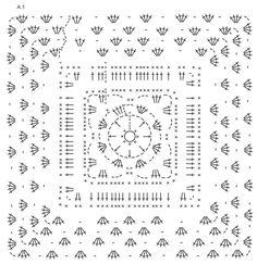 """Couverture DROPS au crochet, en """"Delight"""" et """"Fabel"""". ~ DROPS Design"""