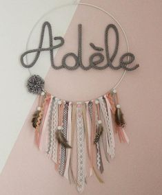 Dream catcher /Dreamcatcher / Deco bedroom / girl / Deco wall / Gift gift / custom / personalized /Personalised - Do it yourself Arrow Nursery, Personalized Tumblers, Boho Decor, Girls Bedroom, Baby Shower, Lana, Dream Catcher, Unique Gifts, Etsy