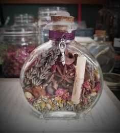witch blessing bottle herbal protection yule spell wiccan spells pagan spiritual bottles rose