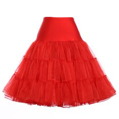 """Ruby Red 1950s Vintage Style Petticoat Crinoline Tulle Skirt 25"""" two layer Petticoat.  REG. AND PLUS SIZE IN STOCK"""
