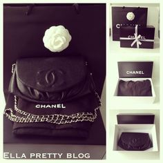 Bag Review Chanel Half Moon Black Caviar WOC Wallet On A Chain Bag