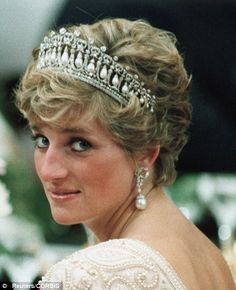 Diana, Princess of Wales was given the Cambridge Lover's Knot tiara as a wedding gift by the Queen