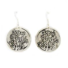 Made from recycled metal by Ana Art Group in India-- Tree of Life Earrings  Price : $12.00 http://shop.amnestyusa.org/Amnesty-International-USA-Tree-Earrings/dp/B005ZVZHBQ