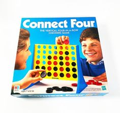 Vintage Connect Four Board Game Milton Bradley 1990 Complete Classic Game Toy Games Toys Popular Family Board Games, Board Games For Girls, Fun Games For Boys, Geography Games For Kids, Mouth Game, Sequence Game, 90s Games, Alone Game, Board Game Box