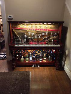 Piano Bar Re-purposed Upright Piano von GTMWoodWorking auf Etsy