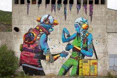 famosos murales Deih Up North Festival Sulitjelma