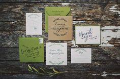 Приглашения и детали декора для свадьбы