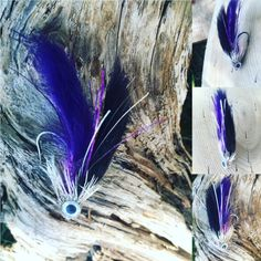 Nate's Fatty Flies: Purple and Black Rodent Muddler Fishing Lure by Natesfattyflies on Etsy