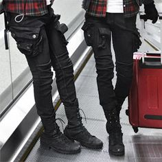 """Modernized cargo, very resident evil meets steampunk"" - The pants could be a tad bit baggier, but stylishly so."