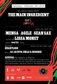The Main Ingredient - Ode To Bonita - DJ Lissa Monet Official Blog #tribecalledquest