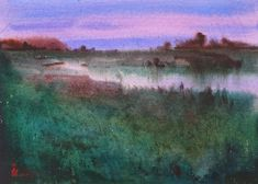 Original watercolor painting Watercolor Original Art Art   Etsy Watercolor Sunset, Watercolour Painting, Frame It, Contemporary Paintings, Art Art, Original Artwork, Clouds, The Originals, Etsy