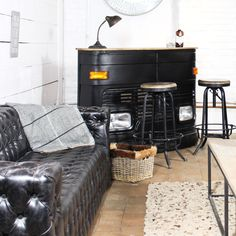 Bar Industriel Tata Camion Noir 158 Cm