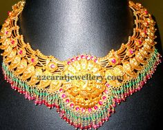 Jewellery Designs: Peacock Pailsey Necklace 64gms